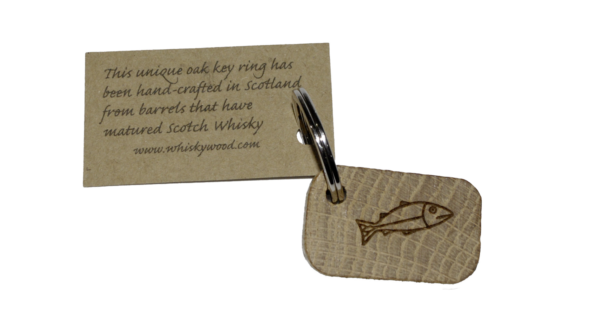 keyring from whisky barrel